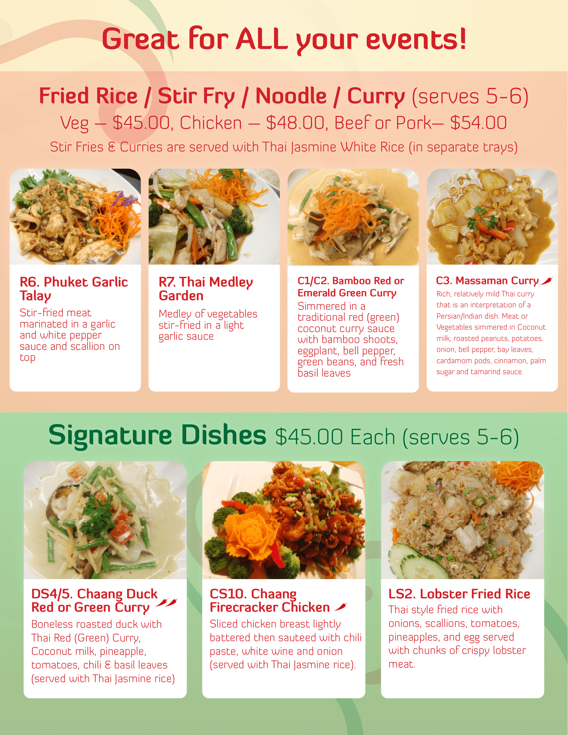 thai dinner party menu ideas